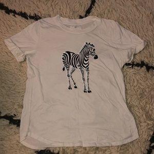Anthropologie zebra T-shirt